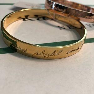 Kate Spade Earn Your Stripes Bangle Bracelet Gold